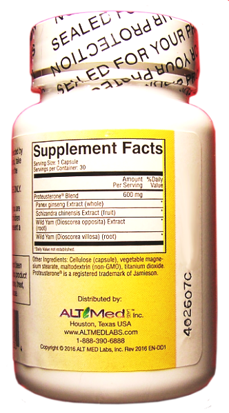 Endocrine Nutrimens Supplement Facts