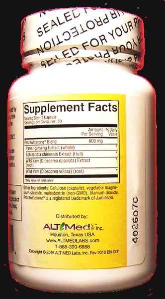 Endocrine Nutrimens Supplement Facts
